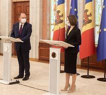 Bogdan Aurescu si Maia Sandu, 23 iulie 2021