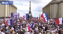 Proteste la Paris -captura de ecran