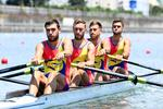 Echipajul masculin de patru rame fara carmaci al Romaniei