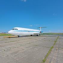 Avionul prezidențial Super one-eleven, folosit pentru zborurile oficiale ale președintelui Nicolae Ceaușescu, 1986