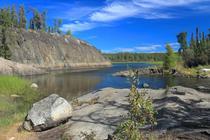 Peisaj din provincia canadiana Nortwestern Terittories