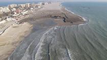 Plaja din Mamaia, după lucrările de lărgire