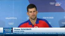 Novak Djokovic, cu lacrimi in ochi