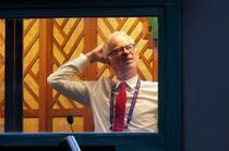 John McEnroe, in cabina de comentator de la Wimbledon