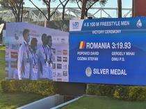 Romania, argint în proba masculina de stafeta 4x100 m liber