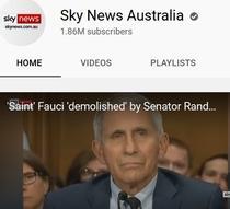 Contul de YouTube al Sky News Australia