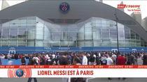 Lionel Messi, asteptat de suporterii echipei PSG