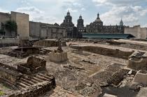 Ruinele Templo Mayor din fosta capitală Tenochtitlan, Mexico City