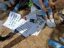 Protest al elevilor la Ministerul Finantelor