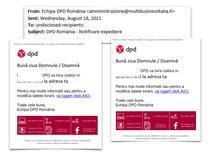 Atac phishing in numele DPD Romania