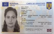 Cartea electronica de identitate, specimen