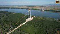Podul peste Dunare gata in proportie de aproape 50 la suta