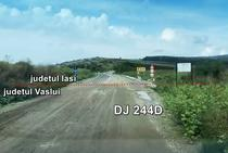 DJ244D la granita dintre judetele Vaslui si Iasi