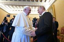 Papa Francisc si Vladimir Putin