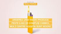 Arderea tutunului emite mii de compuși nocivi