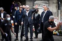Alain Delon la inmormantarea lui Belmondo