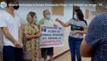 Protestul din 31 august de la Scoala din Filiasi