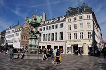 Strada din capitala daneza Copenhaga