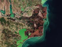 Delta Dunarii, imagine satelit
