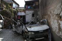 Masina lovita din drona in Kabul