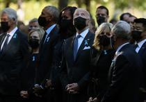 Sotii Biden, Obama si Clinton, la memorialul 9/11
