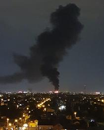 Incendiu in zona de nord a Bucurestiului, strada Parcului, Sector 1