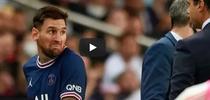 Lionel Messi, in momentul schimbarii