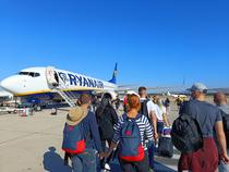 Avion Ryanair - inainte de decolare