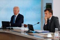 Joe Biden și Emmanuel Macron