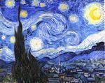 """Luna in """"The Starry Night"""" de Vincent van Gogh"""