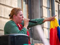 Diana Sosoaca la un protest contra restrictiilor Covid