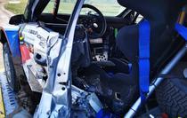 Masina lui Adrian Raspopa dupa accidentul din Raliul Iasului