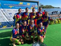 Echipajul de 8+1 feminin al Romaniei, aur la CE U23