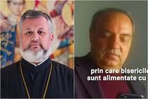 Preotul Aurel Mihai si consilierul Lazar Neacsu