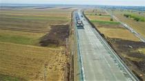 Drumul expres de beton spre vama Giurgiu