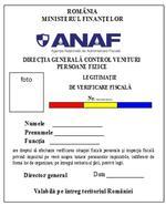 Legitimatie inspectori ANAF