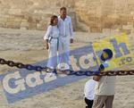 Klaus si Carmen Iohannis la piramide