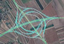 Nodul rutier de tip turbion dintre autostrăzile A7 și A8
