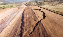 Alunecare de teren pe Autostrada Transilvania